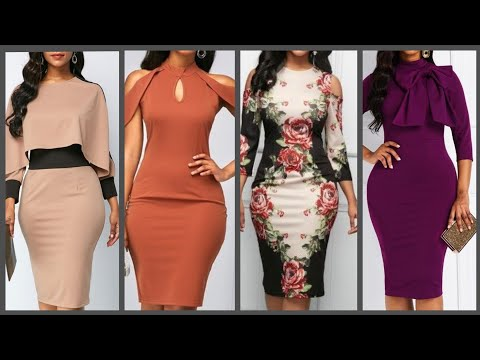 Latest Bodycon Pencil Dresses Collection For Women