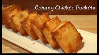 Creamy Chicken Pockets -Delicious snack recipe - Store in freezer & use when required - Iftar recipe