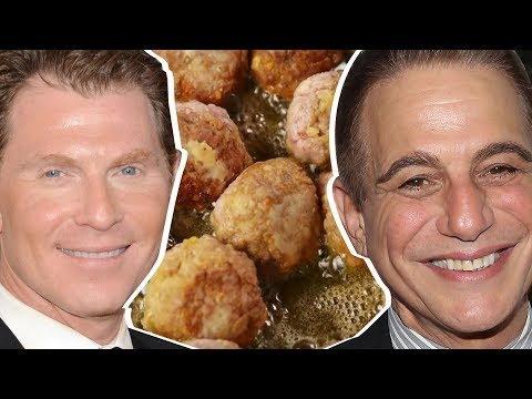 Bobby Flay Vs. Tony Danza: Whose Meatballs Are Better - Celebrity Snackdown | Delish