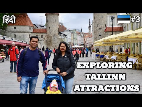 EP3 ESTONIA🇪🇪| Indian Family Exploring Tallinn's Tourist Attractions| Viru Gates | Toompea hill