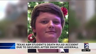 Texas A&M student's death ruled accident due to seizures after snorting Adderall
