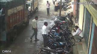 Bike thief in India caught red handed