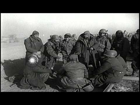 A group of Turkish troops bivouac at Pyongyang airstrip, Pyongyang Korea. HD Stock Footage