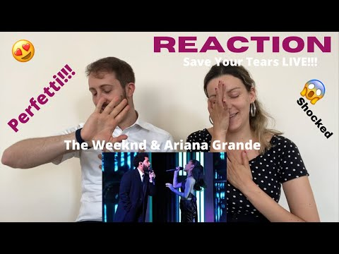 The Weeknd & Ariana Grande - Save Your Tears REMIX LIVE (iHeartRadio Music Awards) REACTION!!!