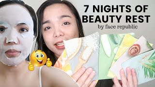 ₱49 KOREAN SLEEPING BEAUTY FACE MASK by FACE REPUBLIC | Seven Nights of Beauty Rest