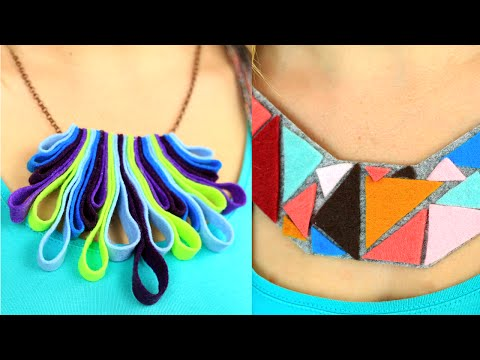 DIY Felt Jewelry Making Ideas