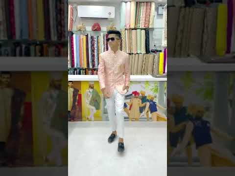 Download Pink Coat White Pant Combination