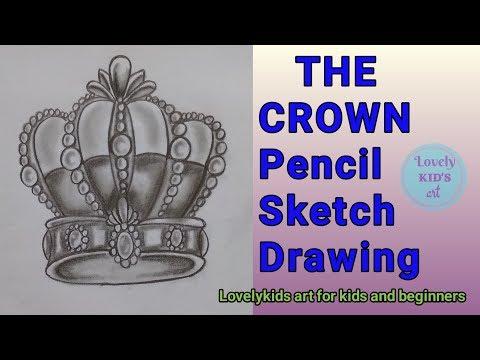 Crown Drawing #pencilsketch#easydrawing#drawingforbeginners#drawing