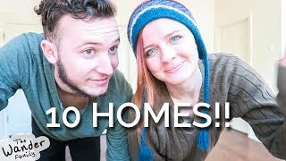 Moving into TEN Homes Before BUYING A HOUSE!!