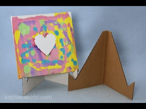 how to make an easel from recycled cardboard sophie 39 s world youtube. Black Bedroom Furniture Sets. Home Design Ideas