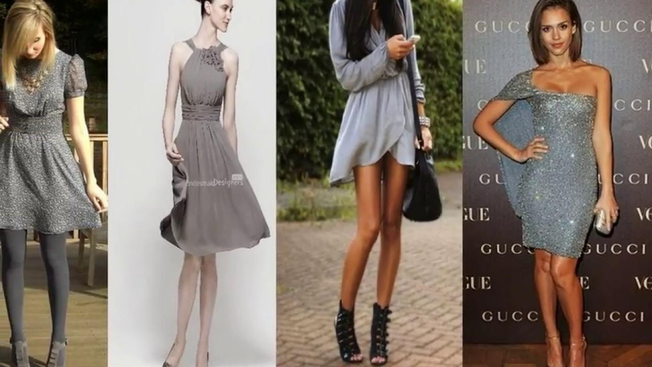 Cómo Combinar Un Vestido Gris