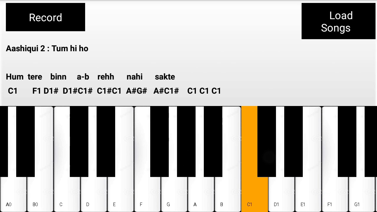 Tum Hi Ho Slow Version Easy Mobile Perfect Piano Tutorial Youtube