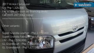 Review Toyota Commuter Philippine Spec