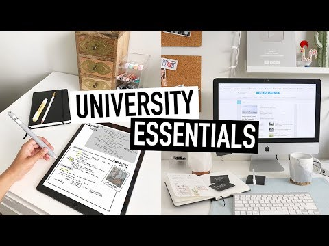 UNIVERSITY ESSENTIALS for BACK-TO-SCHOOL | tips + advice for