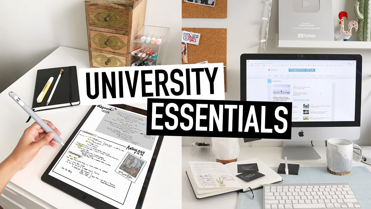 Download UNIVERSITY ESSENTIALS for BACK-TO-SCHOOL | tips + advice for college students