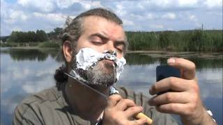 "Бритье ножом. Shaving beard with knife. Нож финка ""Сапер"". Видео тест ножа ""Русский булат"""