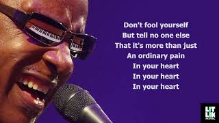 Stevie Wonder - Ordinary Pain (Lyrics)