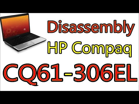 How To Open & Clean Fan HP Compaq Presario CQ61 [ CQ61-306EL ] | Disassembly Notebook