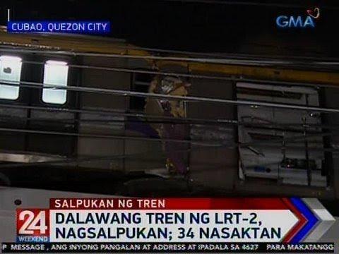 24 Oras: 2 tren ng LRT-2, nagsalpukan; 34 nasaktan