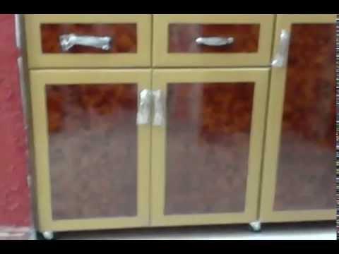 مطبخ 160 سم + مطبقية بيج * بني من مكة لأعمال الألوميتال