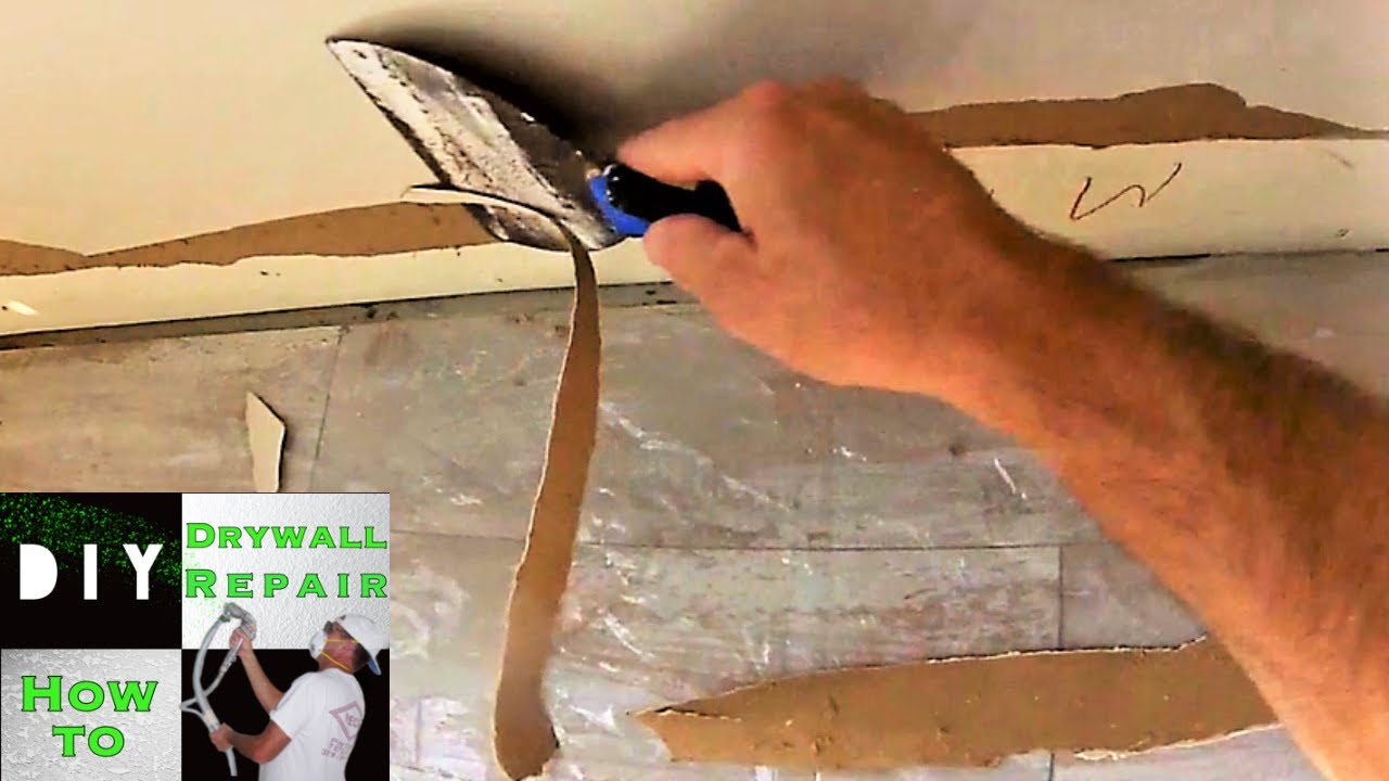 How To Repair Damaged Drywall Paper Torn And Blistered Brown Quick Tip