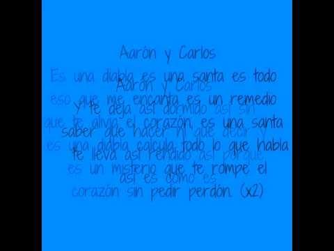 Carlos Ponce Ft. Aarón Diaz- Santa Diabla (Letras)