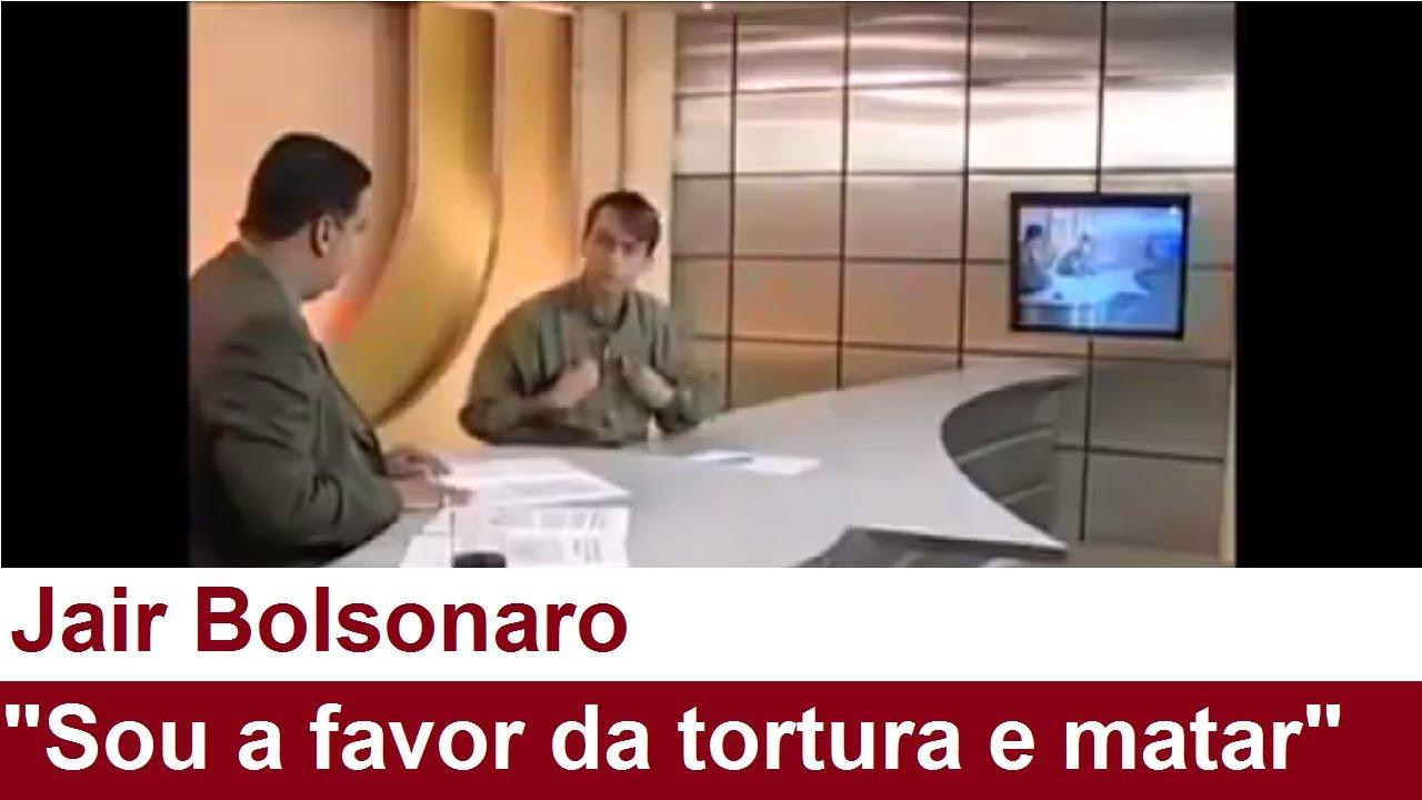 """Bolsonaro: """"Sou a favor da tortura, golpe militar, fechar o ..."""