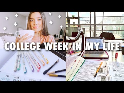 COLLEGE WEEK IN MY LIFE : exams, lots of studying, meet my friends, getting sick