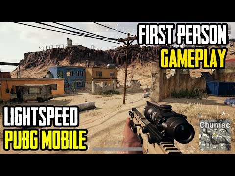 PUBG Mobile First Person Game-play Lightspeed FPP Mode | Chicken Dinner