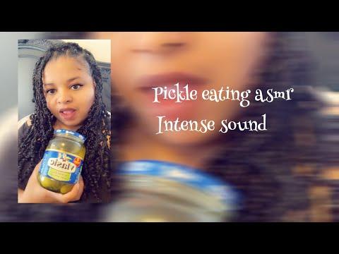 Pickle asmr eating sounds/ Big Crunch/ intense sound