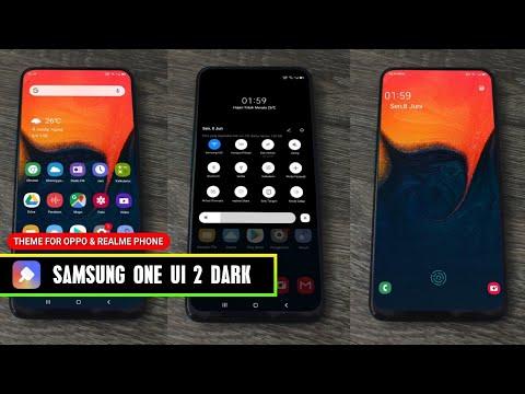 SAMSUNG ONE UI 2 DARK MODE Tema OPPO REALME