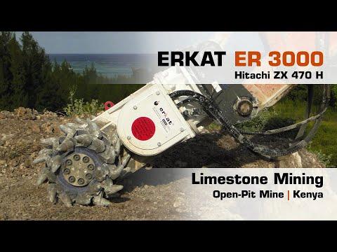 Limestone Mining, Erkat ER 3000 + Hitachi ZX 470