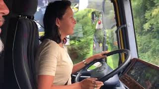 Lkw-Tour: Die Stadlerkurve in Lamprechtshausen