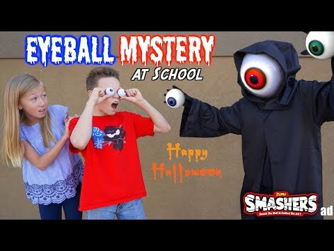 Smashers Eyeball MYSTERY at School! Ninja Kidz TV