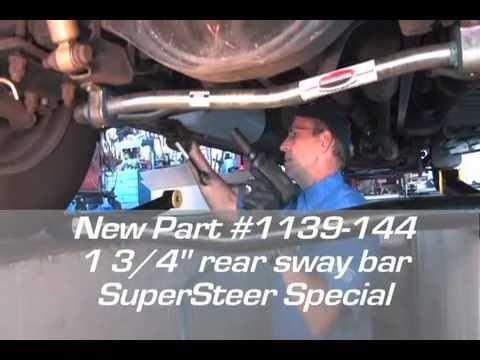 SuperSteer New Rear Sway Bar 1139-144 Roadmaster Ford F53 Koni FSD trac bar  RV motorhome