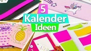 KALENDER 2018 gestalten 5 IDEEN für DIY Planner Setup | Filofax DIY Inspiration basteln deutsch