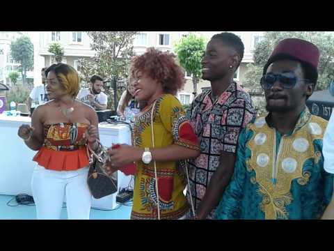 6th International Culture Day, Istanbul Aydin Univ., Turkey. Cameroonian Student's demonstration.