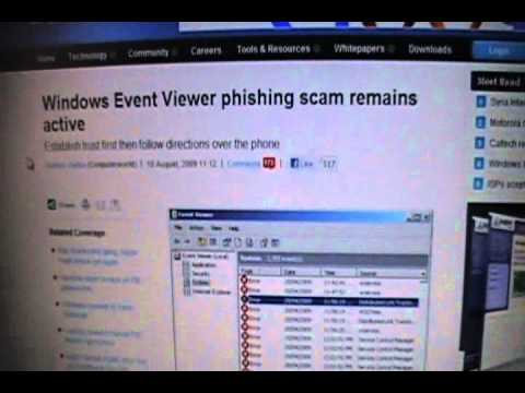 Windows Event Viewer Phishing Scam