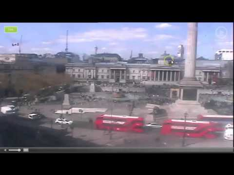 4-19 The Demonic Portal Baal Arch Is UP In London Trafalgar Square & Obama Is Headed There!