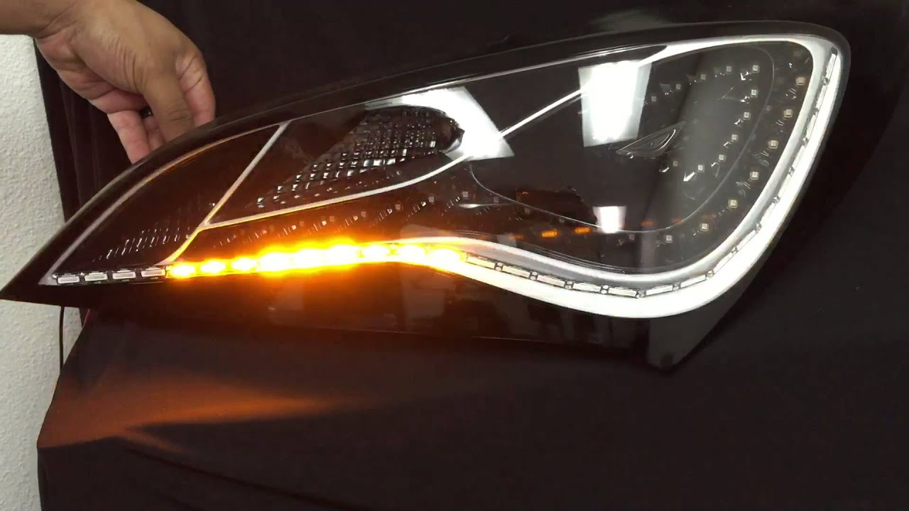 2013 2015 genesis coupe sequential taillights in tuxedo black design youtube. Black Bedroom Furniture Sets. Home Design Ideas