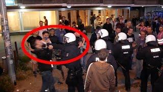 [🔥G20🔥] Polizist haut einem Demonstranten eine rein [~ 4K ~]