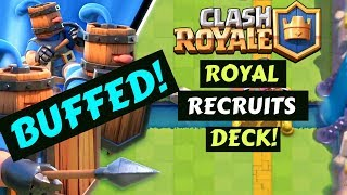 *DECEMBER UPDATE* BUFFED ROYAL RECRUITS DECK// EASY AND FUN!