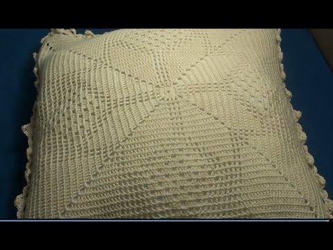 Cojin de nochebuena tejido a crochet labores ang lika - Cojin de crochet ...