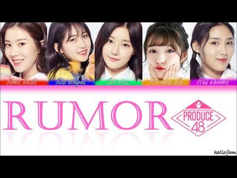 Nation's Hot Issue [국.슈 (국프의 핫이슈)] PRODUCE 48 - 'Rumor' Lirik [HAN|ROM|indo Color Coded]