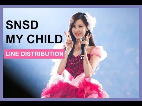 SNSD - My Child - Line Distribution
