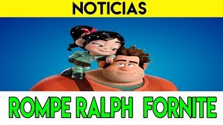 IT'S ALREADY OFFICIAL AND REAL ? Break Ralph sneaks into Fortnite. Just wink or next guest?