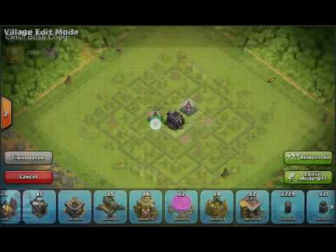 Clash Base Designer Tutorial - Copy And Paste Any Coc Base