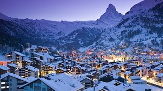 Skiing in Switzerland - Swiss Alps Ski VILLAGE! (Zermatt, Switzerland)