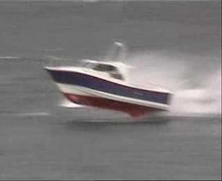 Heavy weather  video footage of Interceptors in rough seas