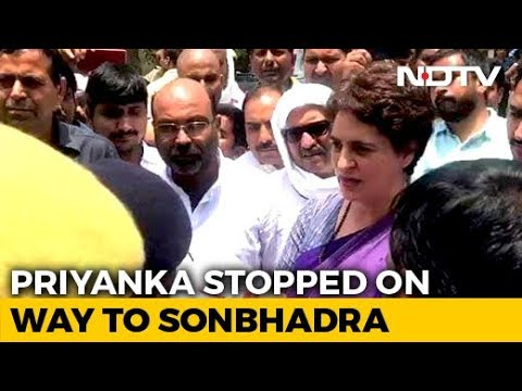 Priyanka Gandhi Detained On Way To Visit Families Of 10 Shot Dead In UP